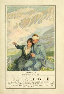 "Cover of ""Catalog [of the] exhibition at the Anderson Galleries of works of art donated for the benefit of the American-British-French-Belgian Permanent Blind Relief War Fund, May 11 to May 25, 1918"""