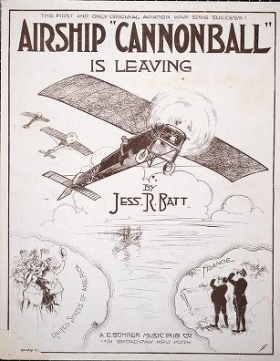 "Cover of ""Airship ""Cannonball"" is leaving"""