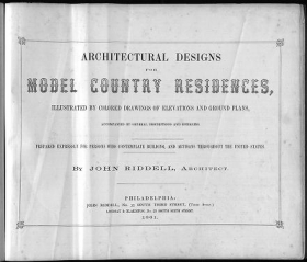 """Cover of """"Architectural designs for model country residences"""""""