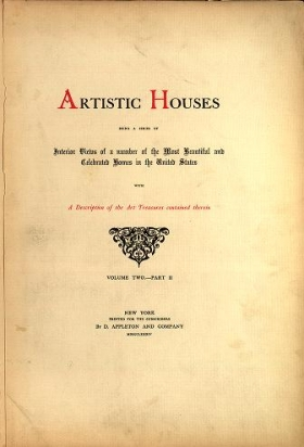 """Cover of """"Artistic houses"""""""