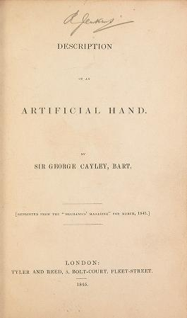 "Cover of ""Description of an artificial hand."""
