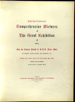 "Cover of ""Dickinsons' comprehensive pictures of the Great Exhibition of 1851 /"""