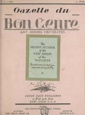 "Cover of ""Gazette du bon genre"""