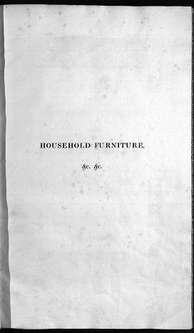 "Cover of ""Household furniture and interior decoration"""