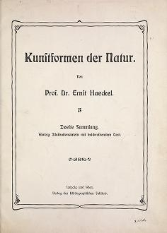 "Cover of ""Kunstformen der Natur /"""