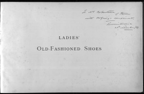 """Cover of """"Ladies' old-fashioned shoes"""""""