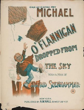 """Cover of """"Michael O'Flannigan dropped from the sky"""""""
