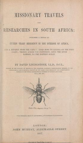 "Cover of ""Missionary travels and researches in South Africa : including a sketch of sixteen years' residence in the interior of Africa, and a journey from the C"""
