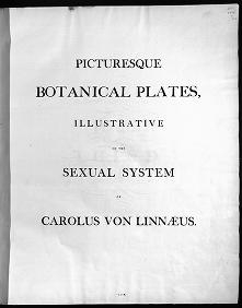 "Cover of ""New illustration of the sexual system of Carolus von Linnaeus"""