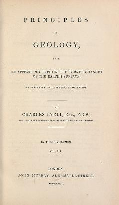 """Cover of """"Principles of geology"""""""