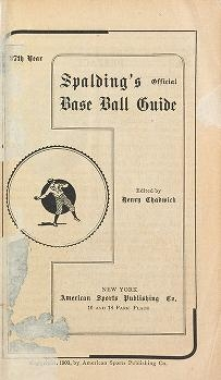 """Cover of """"Spalding's base ball guide, and official league book for ... : a complete hand book of the national game of base ball .."""""""