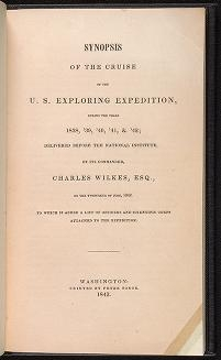 "Cover of ""Synopsis of the cruise of the U.S. Exploring Expedition, during the years 1838, '39, '40, '41 & '42"""