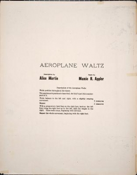 """Cover of """"The aeroplane waltz"""""""