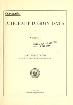 "Cover of ""Aircraft design data"""
