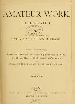 "Cover of ""Amateur work, illustrated"""
