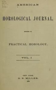 """Cover of """"American horological journal, devoted to practical horology"""""""