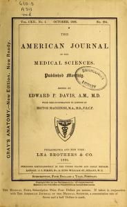"Cover of ""The American journal of the medical sciences"""