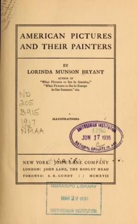 """Cover of """"American pictures and their painters"""""""