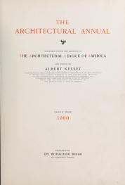 """Cover of """"The architectural annual"""""""