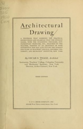 "Cover of ""Architectural drawing"""