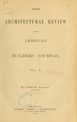 """Cover of """"The Architectural review and American builders' journal"""""""