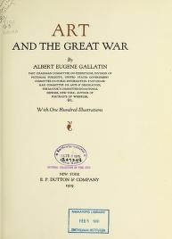 """Cover of """"Art and the great War"""""""