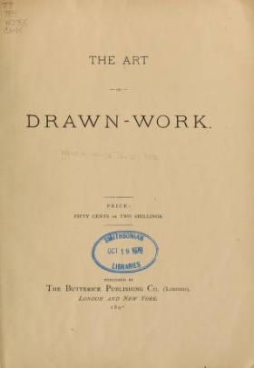 """Cover of """"The art of drawn-work"""""""