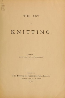 """Cover of """"The Art of knitting"""""""