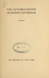 "Cover of ""The autobiography of Joseph Jefferson"""