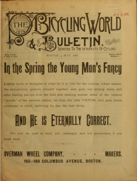 """Cover of """"The Bicycling world & L.A.W. bulletin"""""""