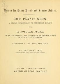 "Cover of ""Botany for young people and common schools"""