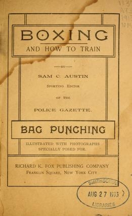 """Cover of """"Boxing and how to train"""""""