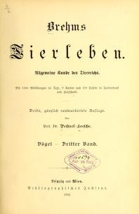"Cover of ""Brehms Tierleben"""