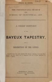 """Cover of """"A Brief history of the Bayeux tapestry with a description of the scenes"""""""