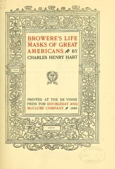 """Cover of """"Browere's life masks of great Americans"""""""