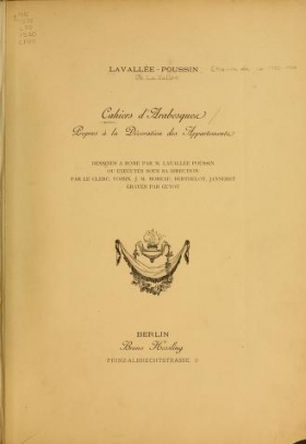 """Cover of """"Cahiers d'arabesques"""""""