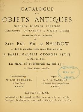 "Cover of ""Catalogue des objets antiques"""