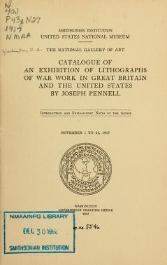"""Cover of """"Catalogue of an exhibition of lithographs of war work in Great Britain and the United States"""""""