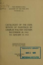 """Cover of """"Catalogue of the exhibition of paintings by Charles Walter Stetson"""""""
