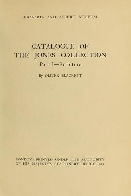 """Cover of """"Catalogue of the Jones collection"""""""