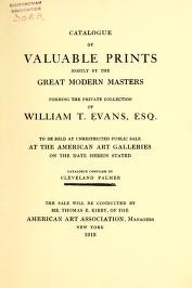 "Cover of ""Catalogue of valuable prints mostly by the great modern masters"""