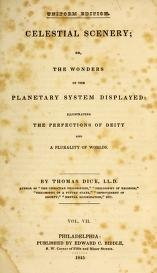 """Cover of """"Celestial scenery, or, The Wonders of the planetary system displayed"""""""