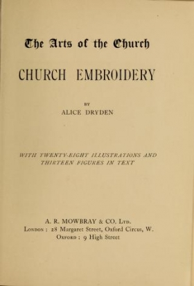 "Cover of ""Church embroidery"""