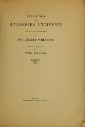 """Cover of """"Collection de broderies anciennes"""""""