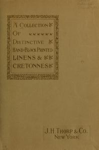 "Cover of ""A Collection of distinctive hand-block printed linens & cretonnes"""
