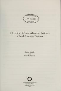 """Cover of """"Contributions from the United States National Herbarium"""""""