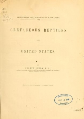"""Cover of """"Cretaceous reptiles of the United States"""""""