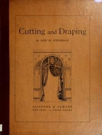 """Cover of """"Cutting and draping"""""""