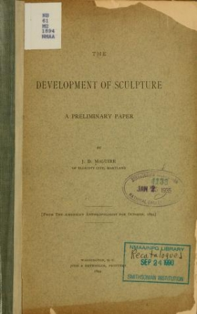 """Cover of """"Development of sculpture"""""""