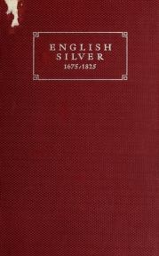 """Cover of """"English silver, 1675-1825"""""""